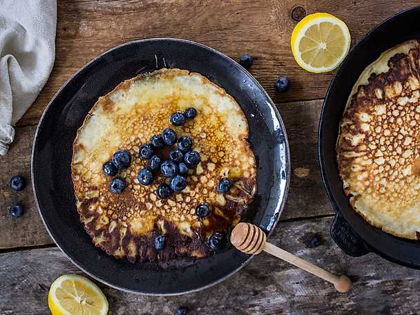 Pannkakor med citronvatten