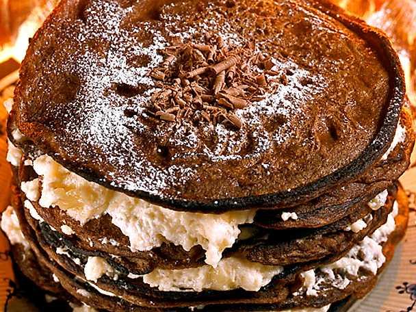 Pannkakstårta med choklad