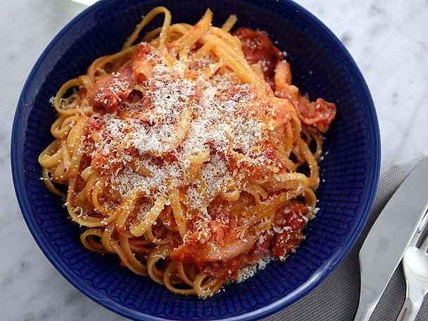 Paolos spaghetti all´amatriciana