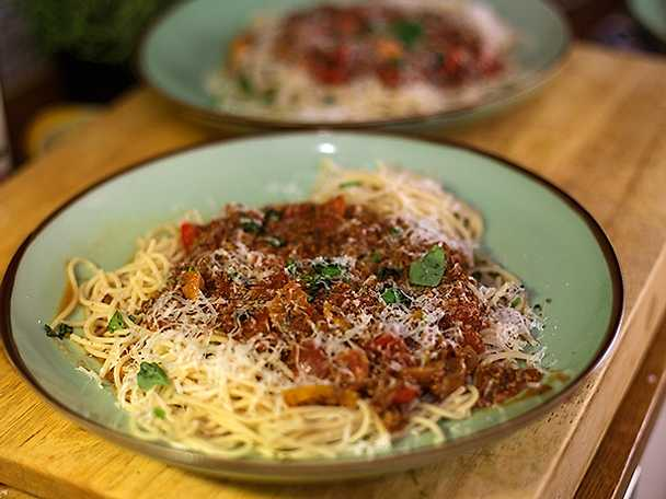 Papis FAB spagetti bolognese med parmesan