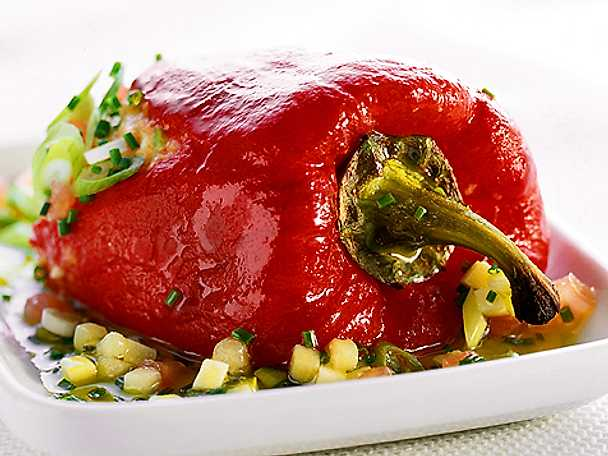 Paprika grillad i vinägersås