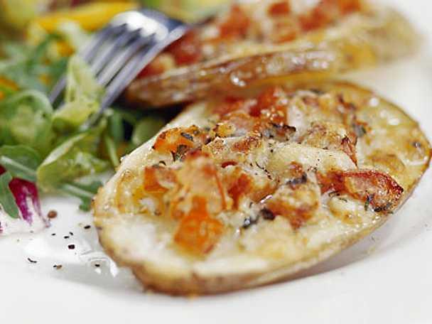 Parmesangratinerade potatisskivor