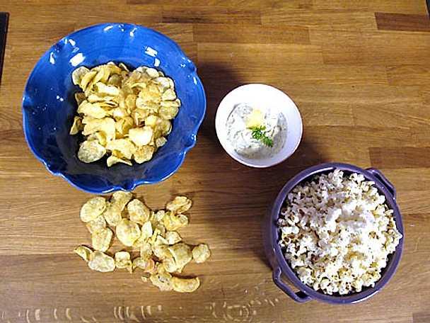 Parmesanpopcorn och lyxig chipsdipp