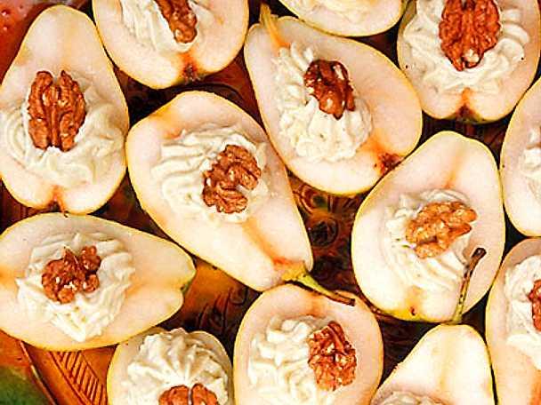 Päron med gorgonzola