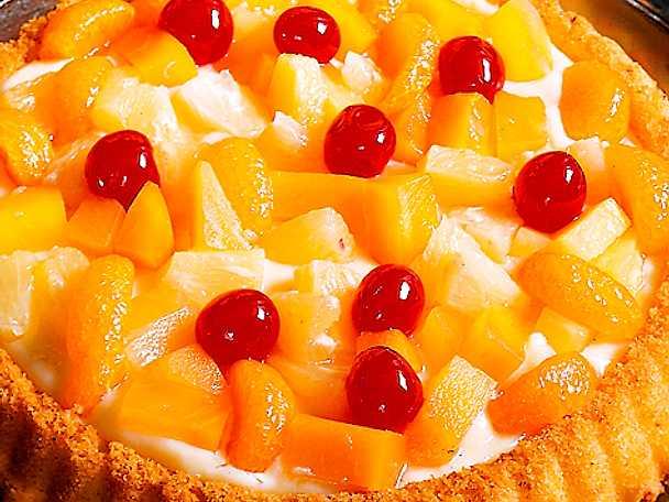 Påsktårta med frukt