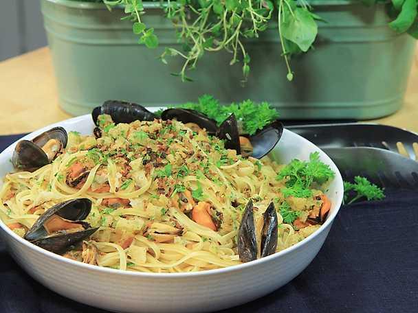 Pasta med italienska musslor