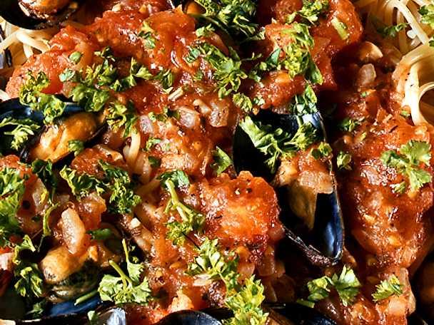 Pasta med musselsås