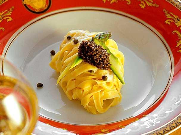 Pasta med rysk kaviar