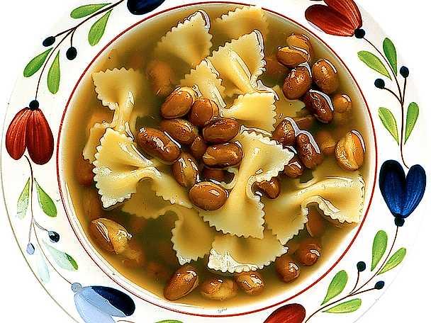 Pastasoppa med bönor