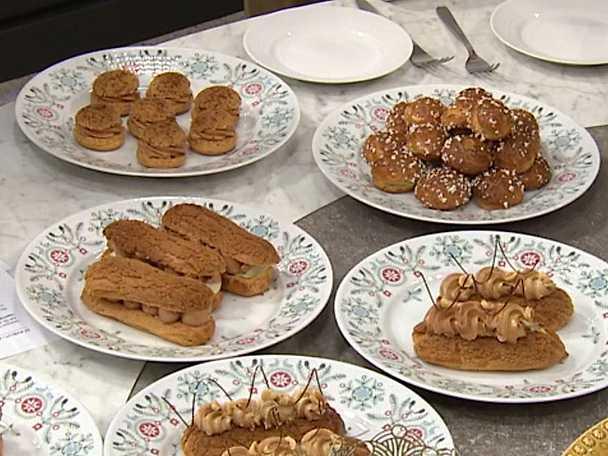 Paté à choux och eclair på julens frestelser