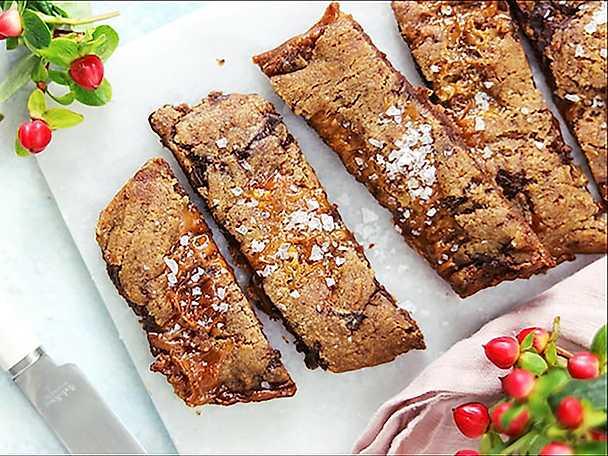 Pepparkakssnittar med kola och choklad