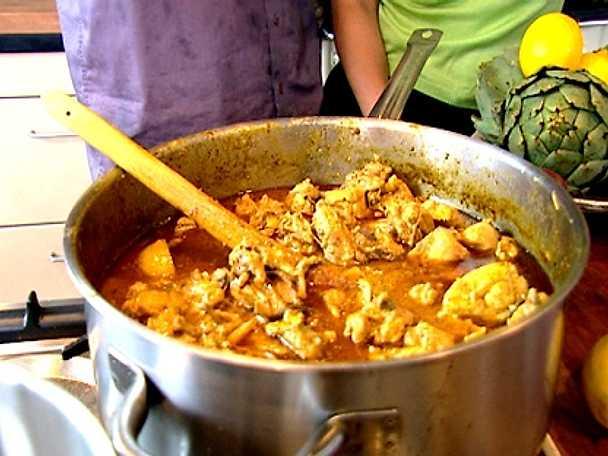 Pers curry -och majskyckling