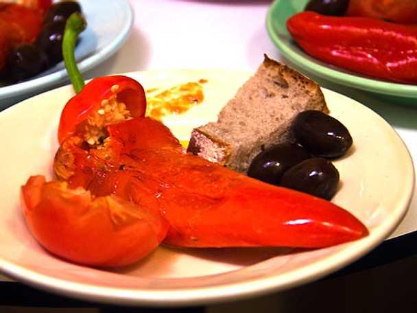 Piperiés gemistés - fylld paprika