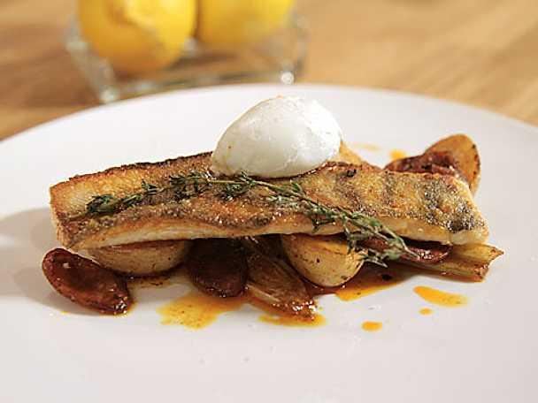 Plattfisk med chorizo