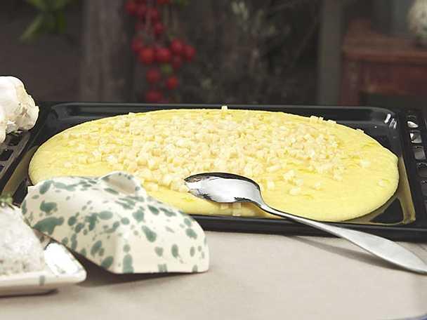 Polentapudding med parmesan