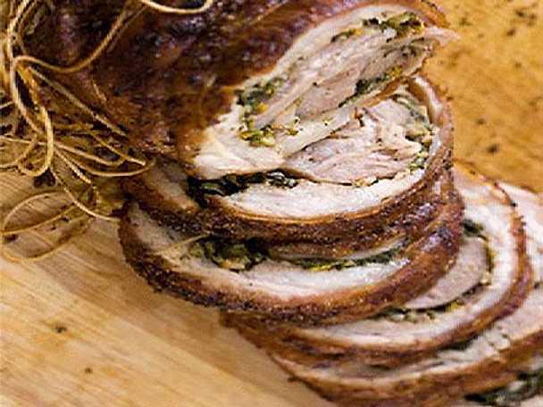 Porchetta med gorgonzolapolenta