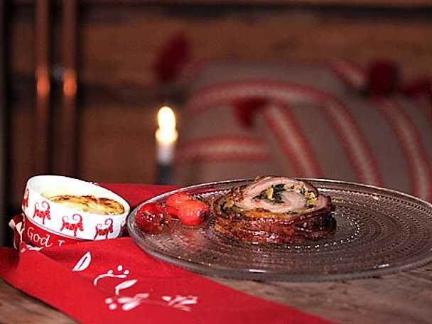 Porchetta med potatisgratäng