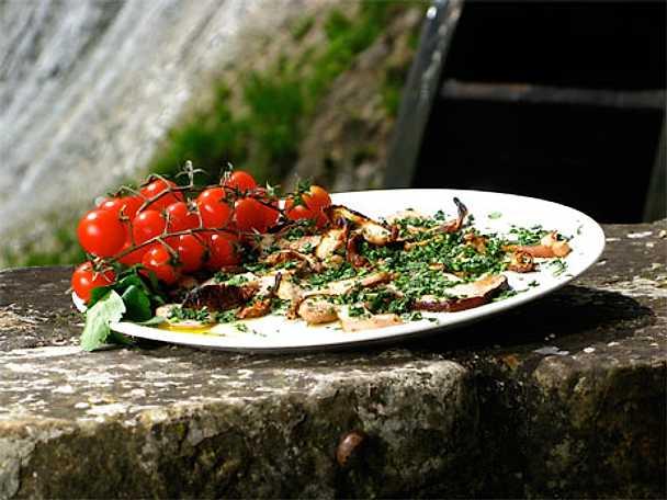 Porcini alla griglia - Grillad karl-johansvamp