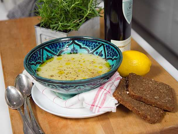 mobergs potatis och purjolökssoppa