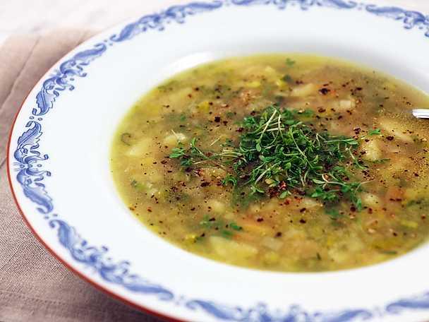 potatis och purjolökssoppa köket