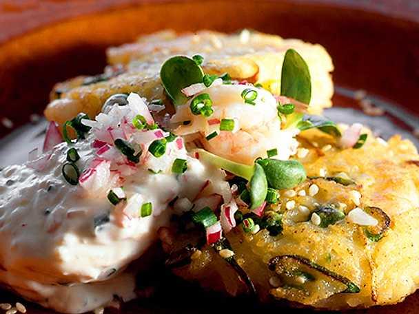 Potatis och zucchinikakor