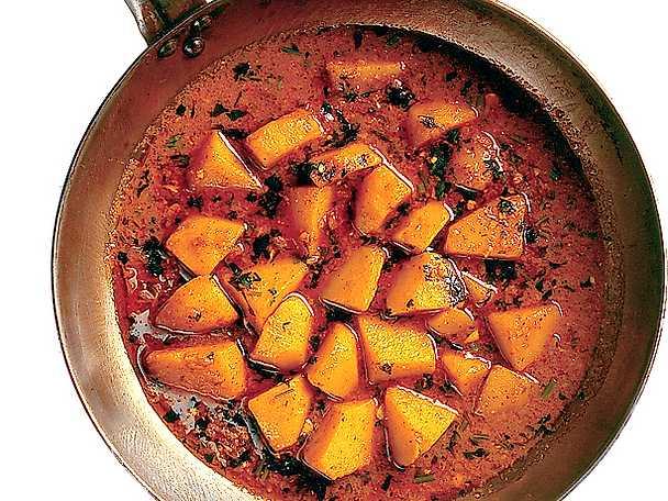 Potatiscurry med ingefära och chili