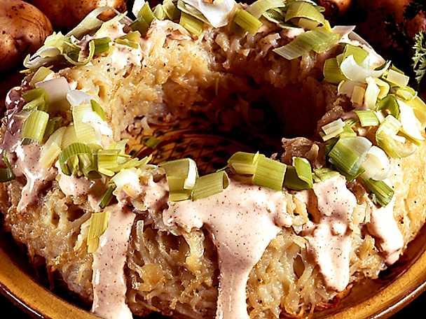 Potatiskrona med gräddfil
