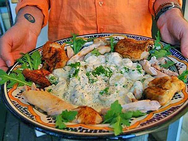 Potatissallad con curry