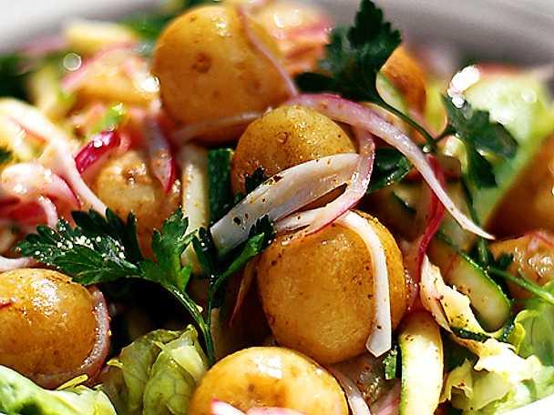 Potatissallad med koriander