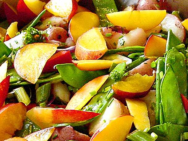 Potatissallad med nektarin