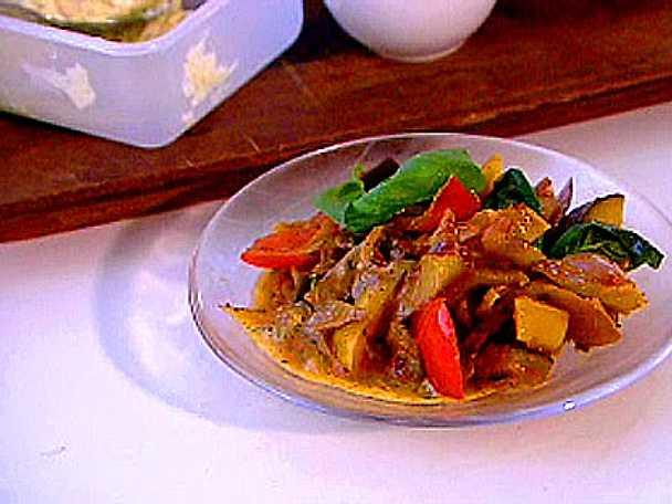 Provencalska grönsakspaket med vitlöksmör