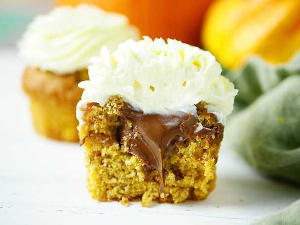 Pumpacupcakes med frosting