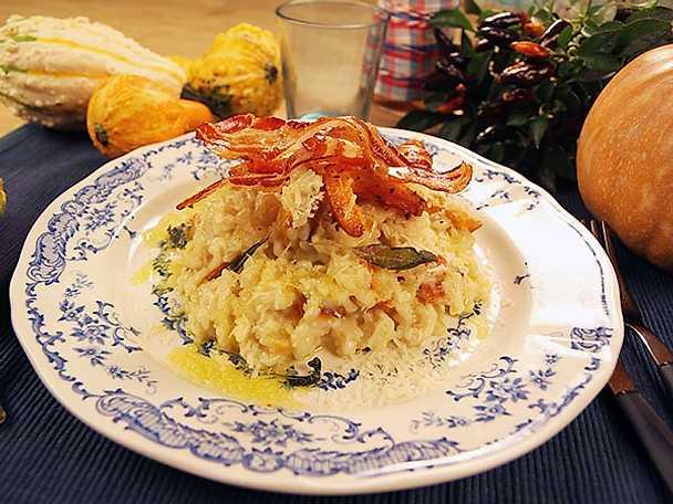 Pumparisotto med pancetta och salvia