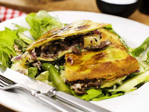 Quesadilla med renskav och pepparrot