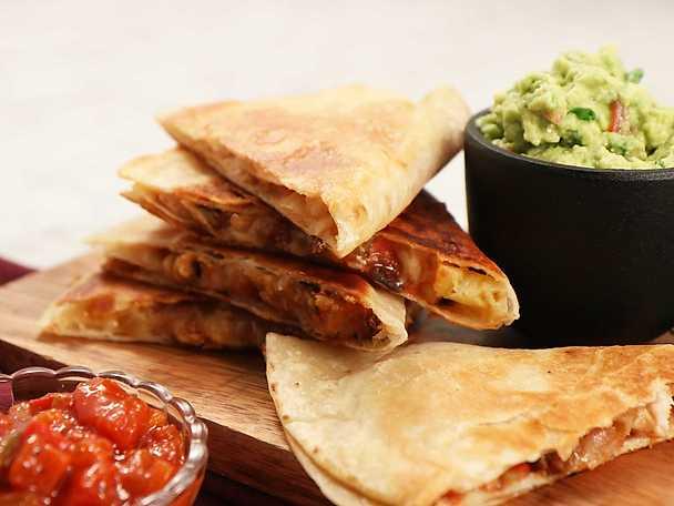 Quesadillas med kyckling och guacamole