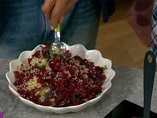 Quinoa med rödbetor och dill
