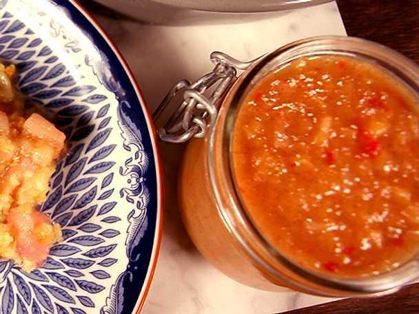 Rabarberchutney med chili och ingefära
