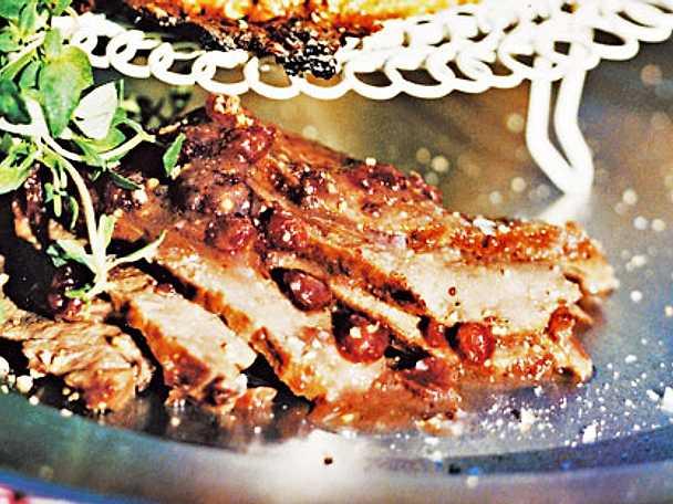 Rådjursfilé med lingon och gin