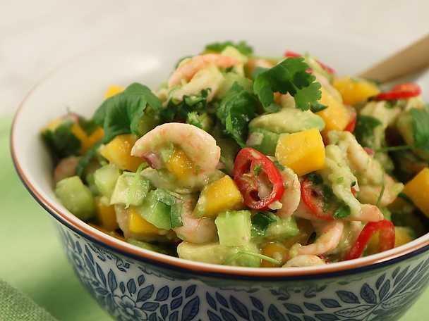 Räk- och avokadoröra med lime och chili