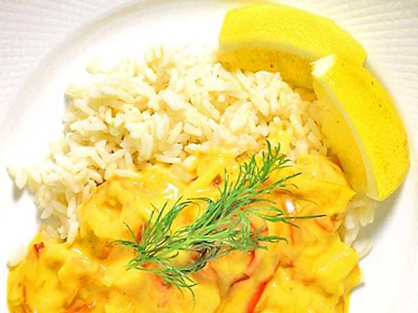 Räkor i curry