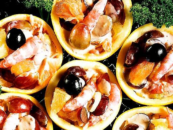 Räksallad med grapefrukt