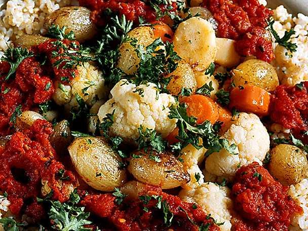 Råris med grönsaksröra