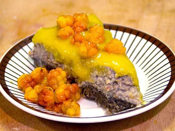 Rawfoodtårta med jämtländsk touch
