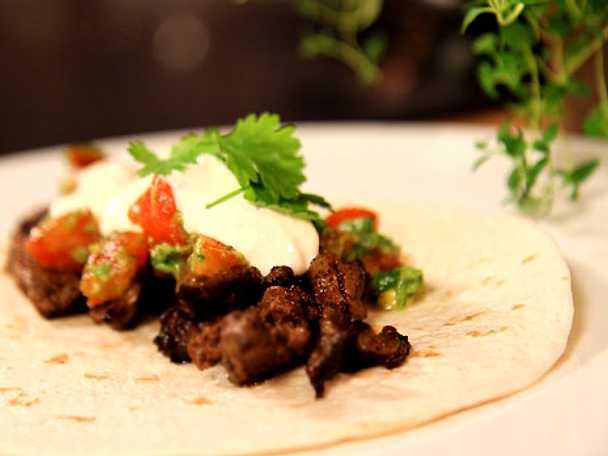 Real tacos på högrev eller entrecôte