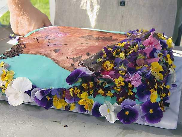 Rickards färgglada bröllopstårta