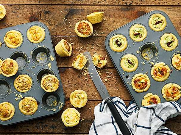 Ricotta- och spenatpaj med soltorkad tomat