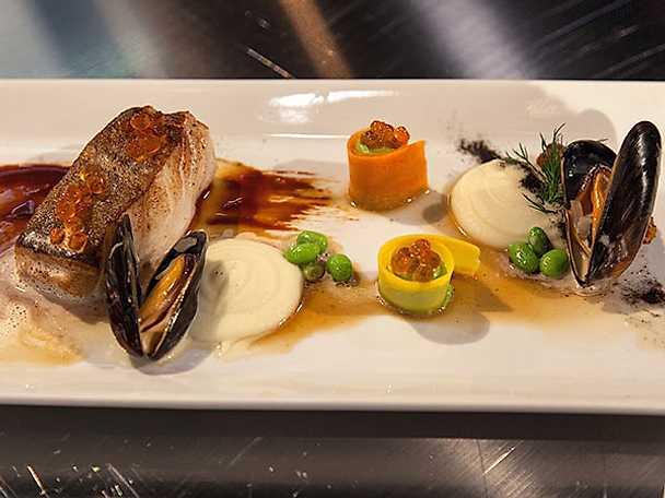 Rimmad torskrygg med musselskum
