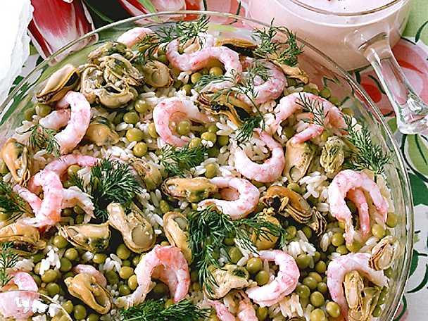 Risi-bisi med räkor och musslor