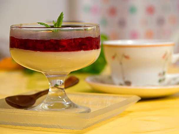 Rispudding med jordgubbssås