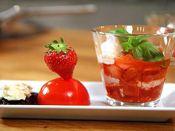 Röd dessert